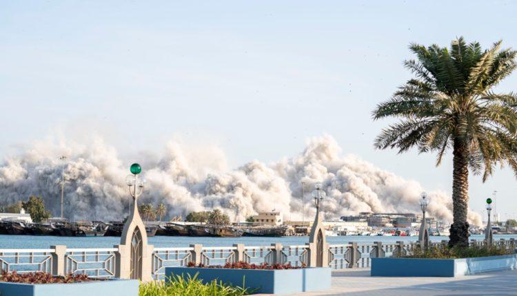 مدن العقارية تعلن عن نجاح عملية هدم أبراج ميناء بلازا في أبوظبي