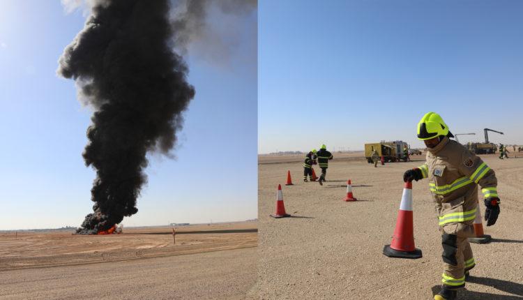 مطار الملك خالد الدولي في العاصمة السعودية يجري تجربة طوارئ افتراضية ناجحة